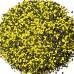 yellow and black poured in place rubber repair patch kit